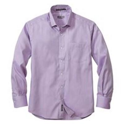 メンズ 長袖イージーケアドビーパターンボタンダウンシャツ