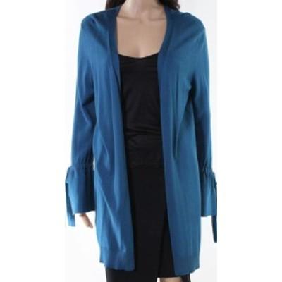 bell ベル ファッション トップス Halogen NEW Blue Womens Small PS Petite Bell Sleeve Cardigan Sweater