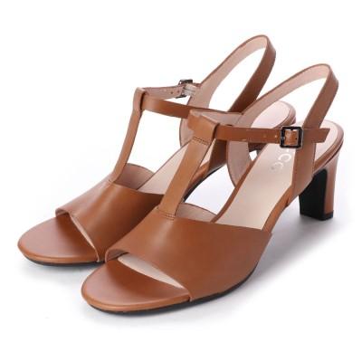 エコー ECCO SHAPE SLEEK SANDAL 65 Shoe (CAMEL)