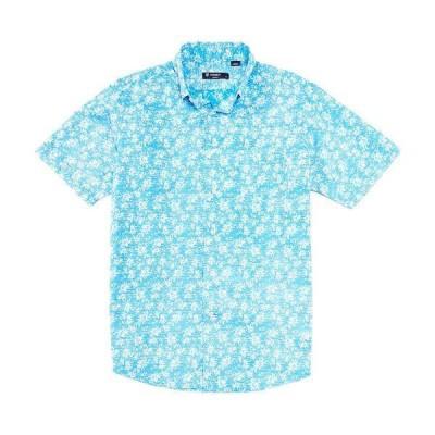 クレミュ メンズ シャツ トップス Floral Print Short-Sleeve Woven Shirt Dresden Blue