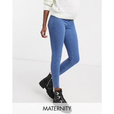 トップショップ マタニティー Topshop Maternity レディース ジーンズ・デニム ボトムス・パンツ Joni overbump skinny jeans in bleach wash ブルー