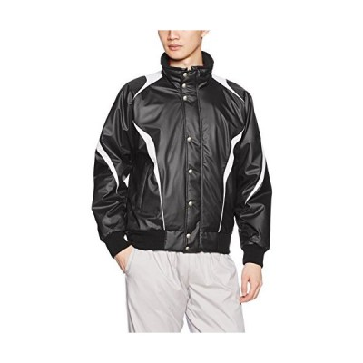 エスエスケイ ジャケット 蓄熱グラウンドコート フロントフルZIP+ボタン比翼付き(中綿) メンズ ブラック×シルバーグレー (9095)