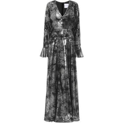ハルパーン Halpern レディース パーティードレス ワンピース・ドレス Printed georgette gown Black/Silver