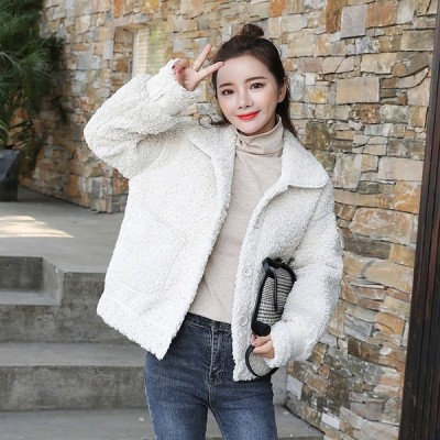 全3色 ファーコート 体型カバー 着痩せ 裏ボア あったか 裏ボア 韓国風 カレッジ風