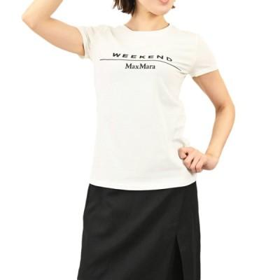 マックスマーラ ウィークエンド コットン ジャージー Tシャツ MAXMARA WEEKEND SELVA 59710111000 10 ホワイト 2021年春夏