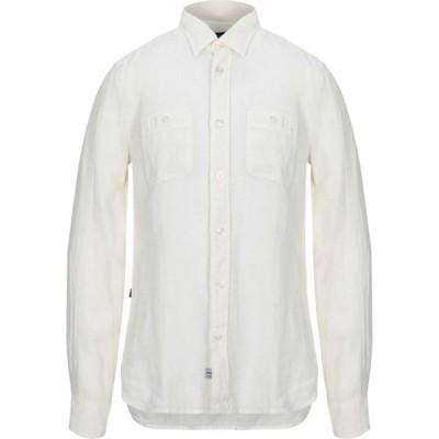 ブラウアー BLAUER メンズ シャツ トップス linen shirt Ivory