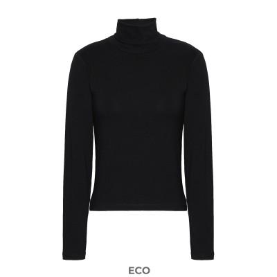 8 by YOOX T シャツ ブラック XS EcoVero™ レーヨン 95% / ポリウレタン 5% T シャツ