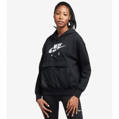 ナイキ Nike レディース パーカー トップス NSW Air Hoodie Black/White
