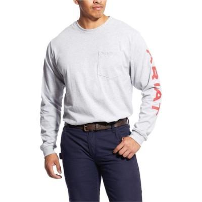 アリアト Ariat メンズ Tシャツ トップス FR Pocketed Logo T-Shirt Heather Grey