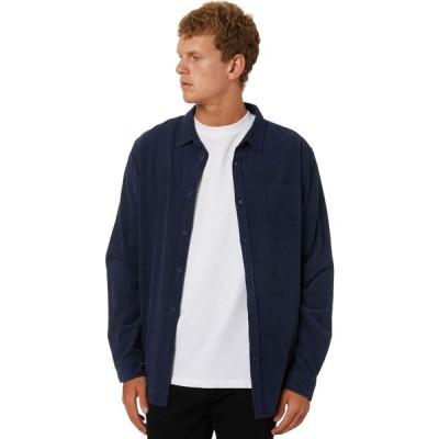 スウェル Swell メンズ シャツ トップス Line Up Cord Ls Shirt Navy