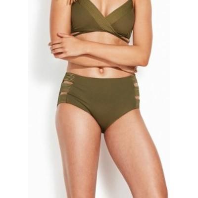 Seafolly シーフォリー スポーツ用品 スイミング Seafolly NEW Green Womens Size 4 (AU 8) Bikini Bottom Strappy Swimwear #981