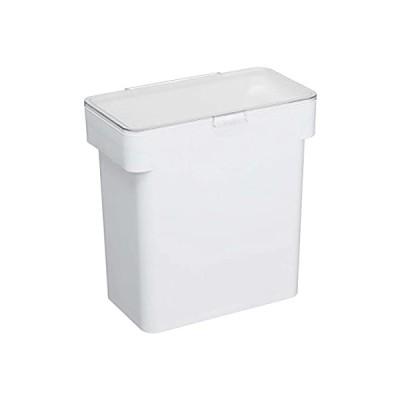 山崎実業 米びつ 密閉 袋ごと米びつ 5kg タワー 計量カップ付き ホワイト 3375