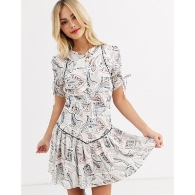 スティービーメイ レディース ワンピース トップス Stevie May cannes paisley flippy short sleeve mini dress