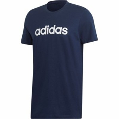 アディダス adidas メンズ Tシャツ ロゴTシャツ トップス Linear Logo T Shirt ColNavy/White