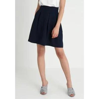 mint&berry レディーススカート A-line skirt - dark blue dark blue
