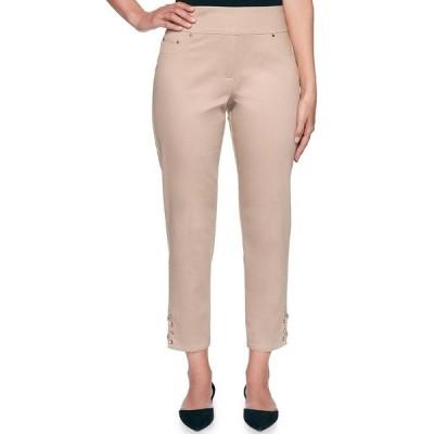 ルビーロード レディース カジュアルパンツ ボトムス Stretched Polished Twill Pull-On Lace-Up Side Hem Detail Ankle Pants Sandstone