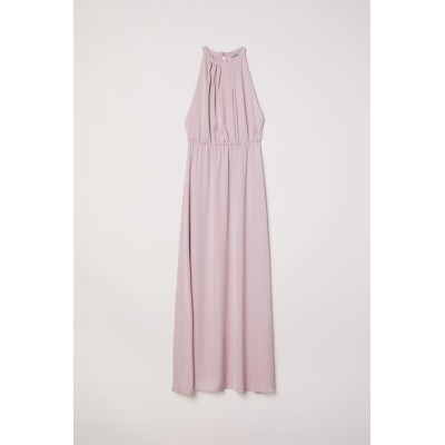 H&M - レースバック ロングワンピース - ピンク
