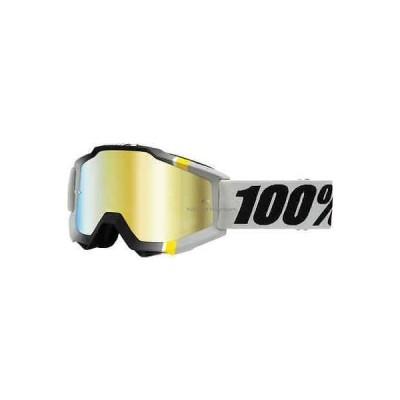 カー用品  100パーセント 100% Accuri ゴーグル モトクロス MX オフロード ATV MTB ミラー クリア レンズ Primer Crystal w Mirror Gold Lens
