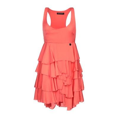 MANGANO ミニワンピース&ドレス コーラル 42 ポリエステル 100% ミニワンピース&ドレス