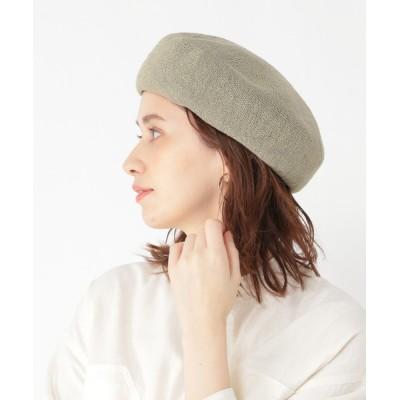 studio CLIP / 洗える和紙リネンベレー帽 WOMEN 帽子 > ハンチング/ベレー帽