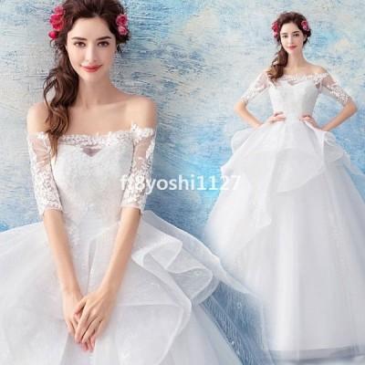 ウエディングドレスレディースベアトップロングドレス花嫁ドレスオシャレ上品なブライダルドレス素敵な演奏会ドレスウエディングプリンセスドレス