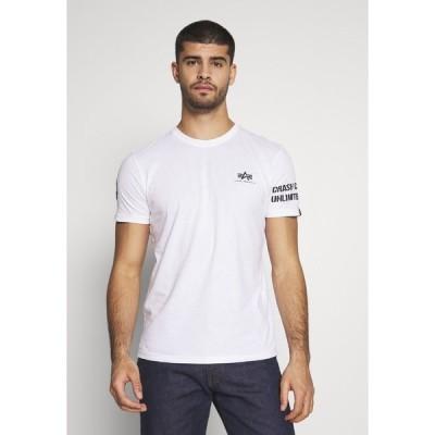 アルファインダストリーズ Tシャツ メンズ トップス Print T-shirt - white/balck