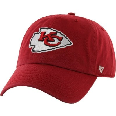 フォーティーセブン 帽子 アクセサリー メンズ '47 Adults' Kansas City Chiefs Clean Up Cap Red