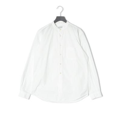 ルーズフィット バンドカラー 長袖シャツ ホワイト 4