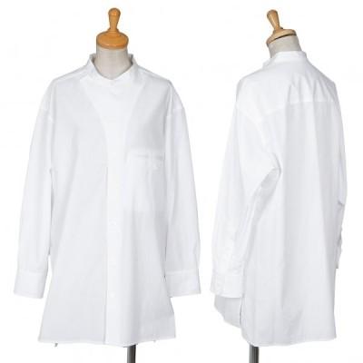 ヨウジヤマモト ノアールYohji Yamamoto NOIR スタンドカラーコックシャツ 白2 【レディース】