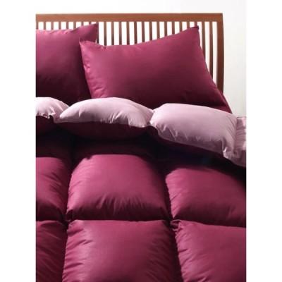 羽根掛け布団 の単品 シングルサイズ 色-リュクスボルドー /フランス産フェザー100%
