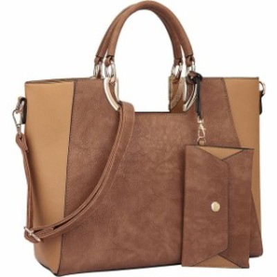 Dasein  ファッション バッグ Dasein Square Handle Faux Leather Tote with Removable