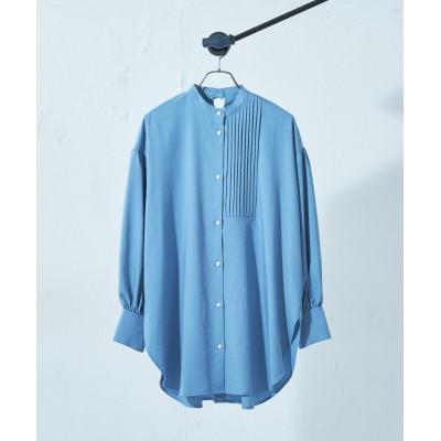 アシメピンタックドレスシャツ