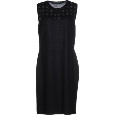 VERSACE ミニワンピース&ドレス ブラック 42 ウール 100% ミニワンピース&ドレス