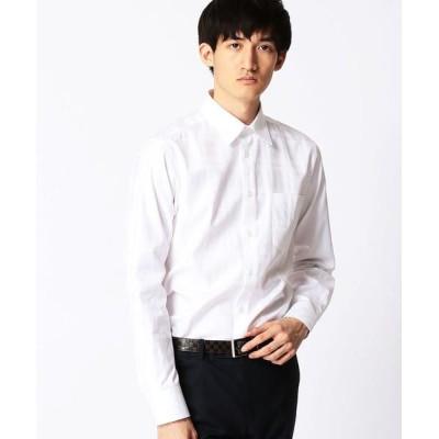 COMME CA MEN/コムサ・メン ドビーチェックドレスシャツ ホワイト S