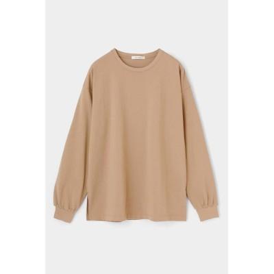 (moussy/マウジー)COTTON C/N LONG SLEEVE Tシャツ/レディース BEG