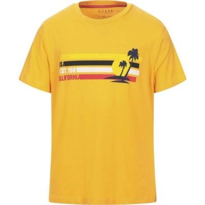 ゲス GUESS メンズ Tシャツ トップス T-Shirt Orange