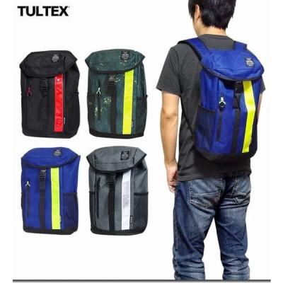 リュックサック デイパック メンズバッグ メンズファッション 大人気 TULTEX シンプルデザイン 使い勝手抜群 リフレクターテープ使い フラップ 通勤