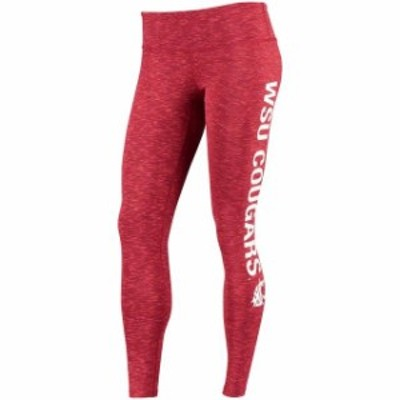 ZooZatz ズーザッツ スポーツ用品  ZooZatz Washington State Cougars Womens Crimson Touchdown Space Dye Leggings