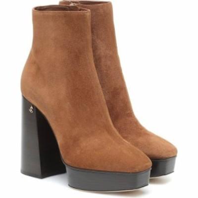 ジミー チュウ Jimmy Choo レディース ブーツ ショートブーツ シューズ・靴 bryn 125 suede platform ankle boots Clove