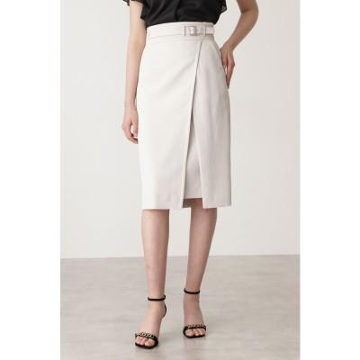 ◆ベルトデザインタイトスカート ベージュ
