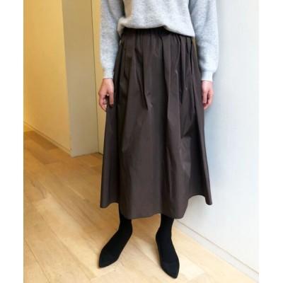 Perle Peche / ダブルフェイスツイルギャザースカート WOMEN スカート > スカート