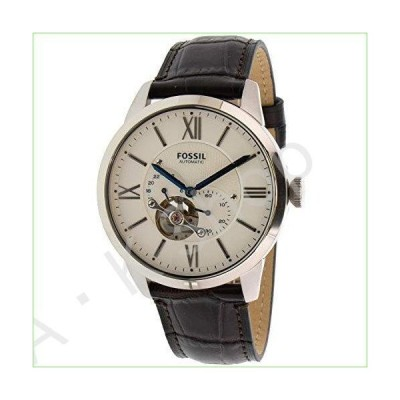 Fossil Men's Townsman ME3167 Silver Leather Japanese Automatic Fashion Watch--並行輸入品--