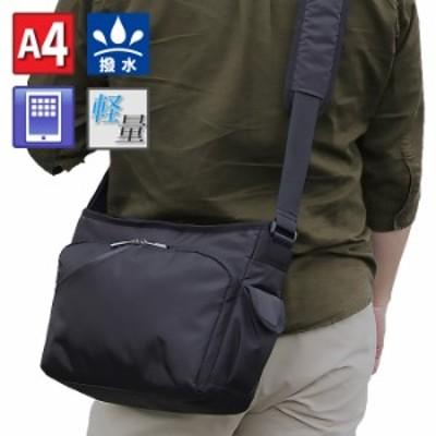 ショルダーバッグ タブレット対応 メンズ A4 軽量 撥水 街持ち 黒 KBN33747 グラフィット GRAFIT