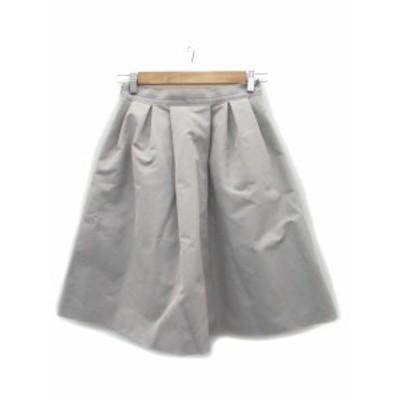 【中古】アクアガール aquagirl スカート ギャザー フレア ミモレ丈 38 グレー /MS15 レディース
