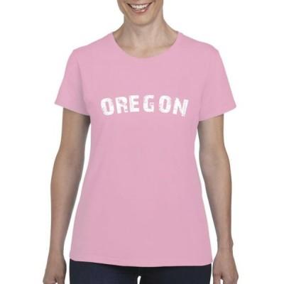 レディース 衣類 トップス Womens Oregon OR Flag Portland Short Sleeve T-Shirt Tシャツ