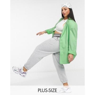 コルージョン Collusion レディース スーツ・ジャケット アウター Plus exclusive colour oversized dad blazer in green グリーン