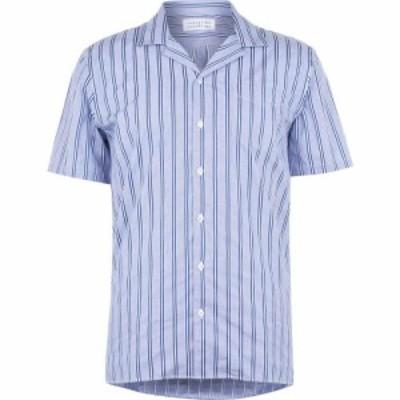 リバティーン リバティーン Libertine Libertine メンズ 半袖シャツ トップス Libertine Short Sleeve Casual Shirt Royal Stripe