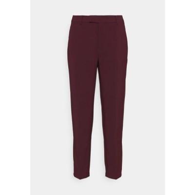 アンナフィールド レディース ファッション Slim fit business trousers - Trousers - dark red