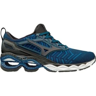 ミズノ スニーカー シューズ メンズ Mizuno Men's Waveknit C1 Running Shoes Dress Blue/Black