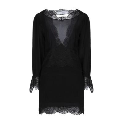 イロ IRO ミニワンピース&ドレス ブラック 40 シルク 100% / ポリエステル ミニワンピース&ドレス